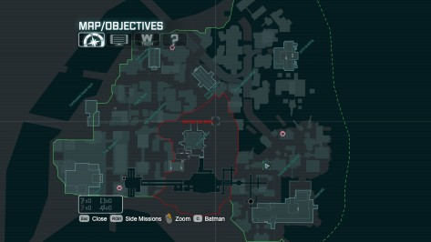 Mapa de Arkham City. © Rocksteady Studios - 2011.