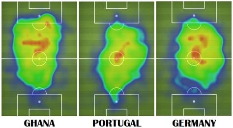 Cobertura de campo del jugador de fútbol norteamericano Michael Bradley durante la Copa del Mundo 2014. Fuente: fifa.com