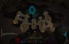 Mapa superpuesto a la interfaz principal. Diablo III. © Blizzard Entertainment - 2012