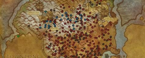 Versión de un mapa de World of Warcraft generada por el add-on Pet Tracker. © Blizzard Entertainment - 2011.
