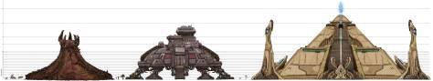 Edificios de Starcraft a escala. Vía sc2.gameguyz.com