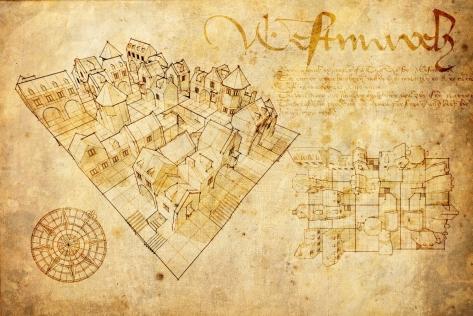 Concept art de Diablo III Reaper of souls, donde se hace referencia al diseño de la ciudad de Westmarch. Blizzard Entertainment - 2014.