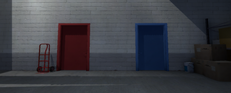 ¿Puerta roja o puerta azul? ¿A alguien le suena?