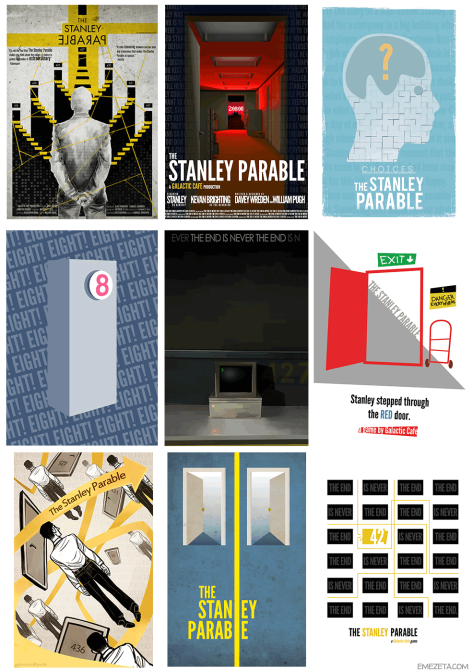 The Stanley Parable (The end is never the end), de Yolkia The Stanley Parable, de TFX Neo The Stanley Parable, de Stokens This is not The Stanley Parable, de DrinkerTH This is the story of a man named Stanley, de vikingfern Stanley's Red Door, de Strawbzz The Stanley Parable, de S.J. Miller The Stanley Parable, de AdmiralFlapplak The Stanley Parable, de Strawbzz. Vía emezeta.com.