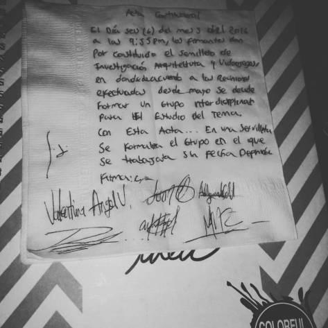 Acta inaugural de NARQVI
